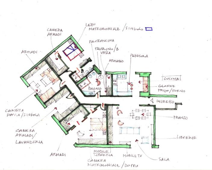 progetto di interno casa