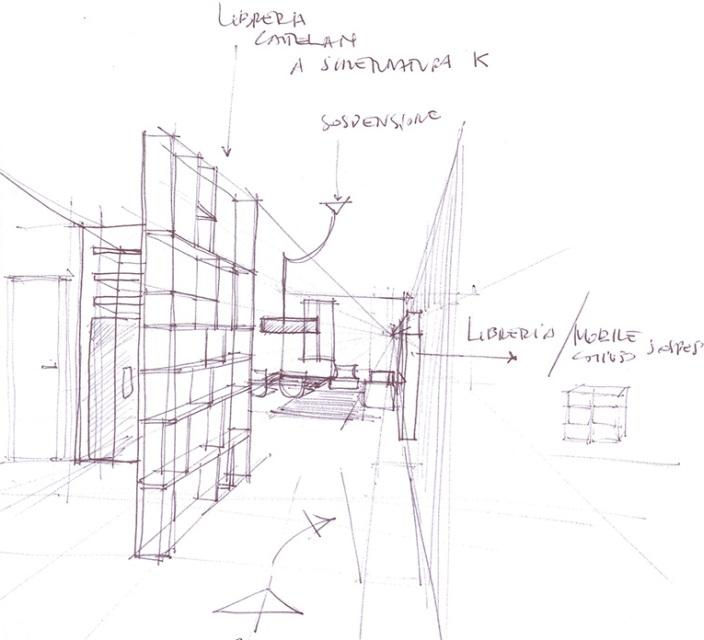 disegno a mano da un architetto case a matita